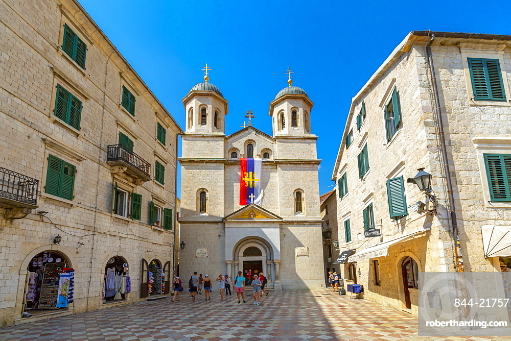 St. Nicholas Serbian Orthodox Church , Old Town, UNESCO World Heritage Site, Kotor, Montenegro, Europe