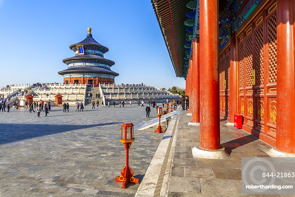 The Hall of Prayer for Good Harvests in the Temple of Heaven, UNESCO World Heritage Site, Beijing, People's Republic of China, Asia