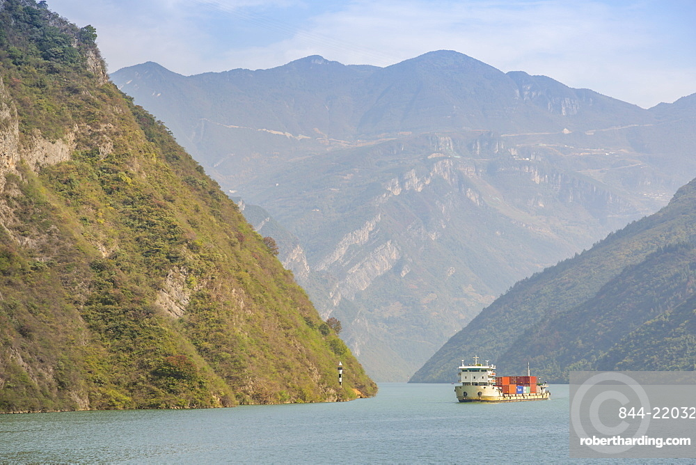 View of the Three Gorges on the Yangtze River, People's Republic of China, Asia