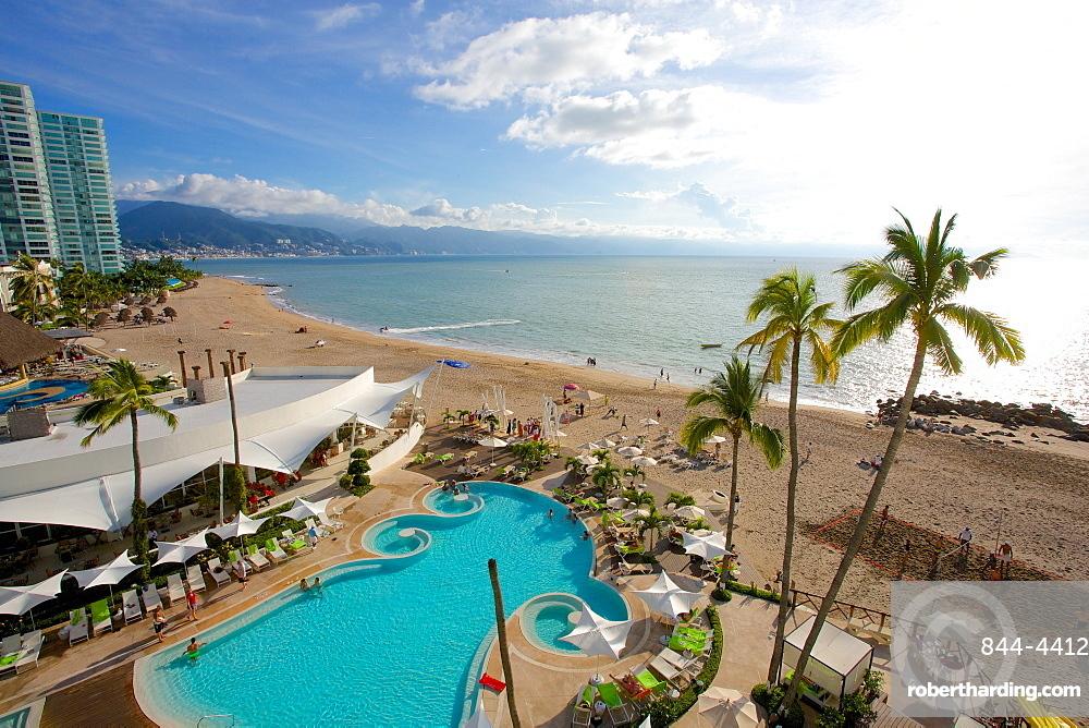 Hotel scene, Puerto Vallarta, Jalisco, Mexico, North America