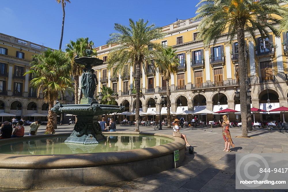 Placa Rieal, Barcelona, Catalonia, Spain, Europe