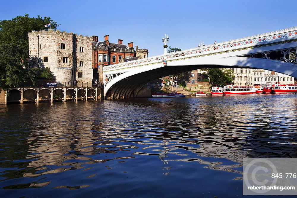 Lendal Tower and Lendal Bridge over the River Ouse, City of York, Yorkshire, England, United Kingdom, Europe