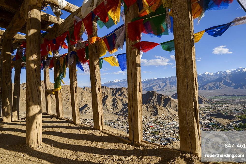 The very top of Namgyal Tsemo Monastery in Leh, Ladakh, Himalayas, India, Asia