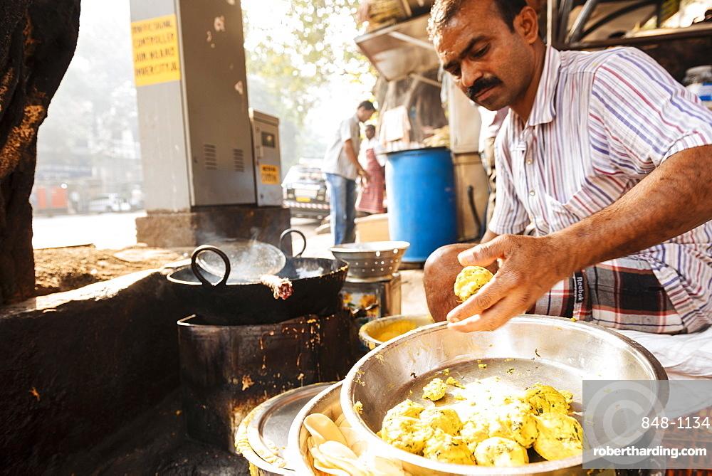 Street food stall, Mumbai, India, South Asia