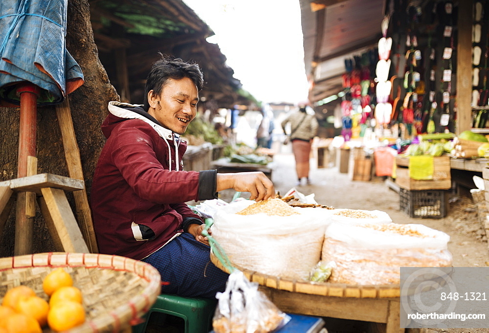 Hsipaw Morning Market, Hsipaw, Shan State, Myanmar (Burma), Asia
