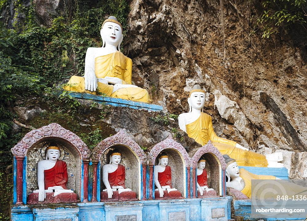Kaw Ka Thawng Cave, Hpa-an, Kayin State, Myanmar (Burma), Asia
