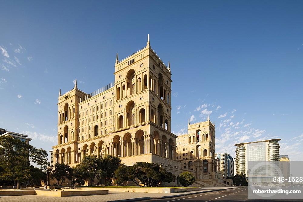 Exterior of House of Government, Freedom Square, Baku, Azerbaijan, Central Asia, Asia