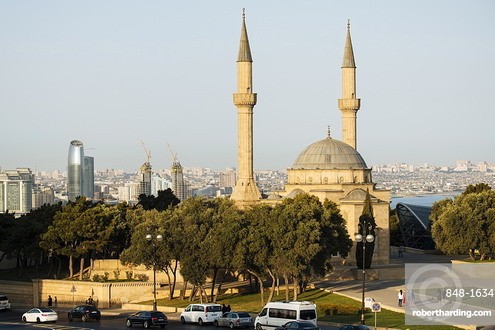 The Shahid Mosque, Baku, Azerbaijan, Central Asia, Asia