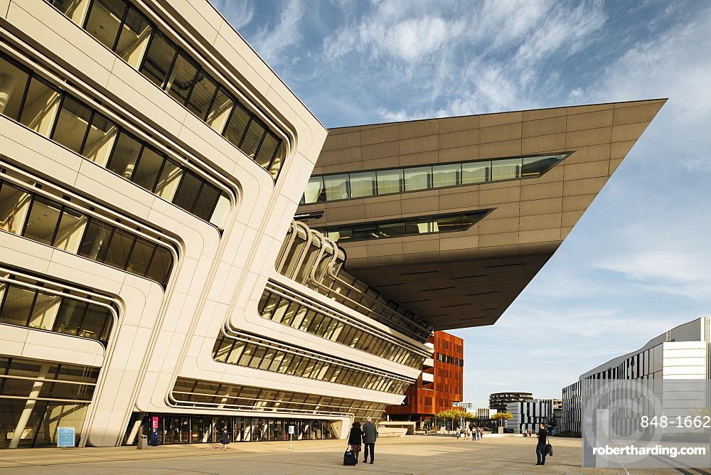 Exterior of Vienna University of Economics and Business Campus designed by Zaha Hadid Architects, Vienna, Austria, Europe