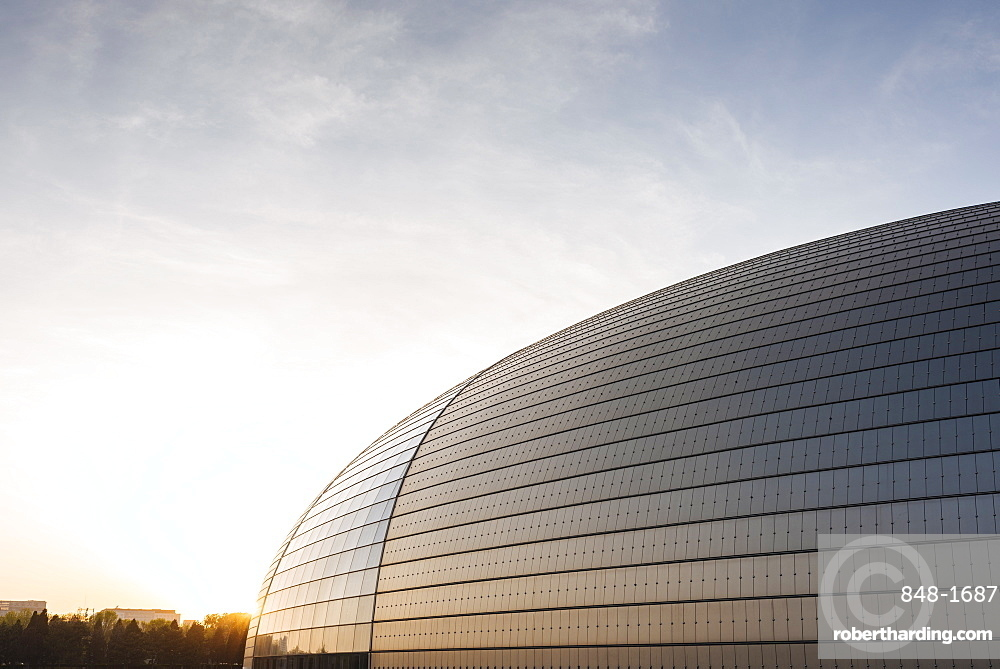 National Centre for the Performing Arts at sunset, Beijing, China, Asia