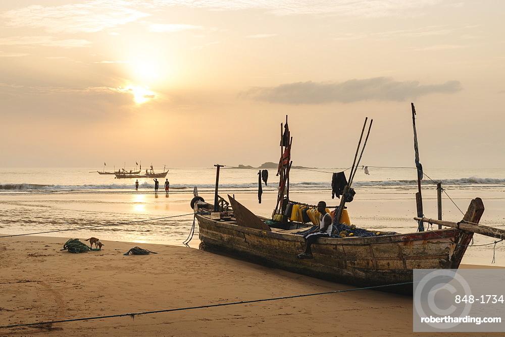 Sunrise at Busua Beach, Busua, Ghana, Africa