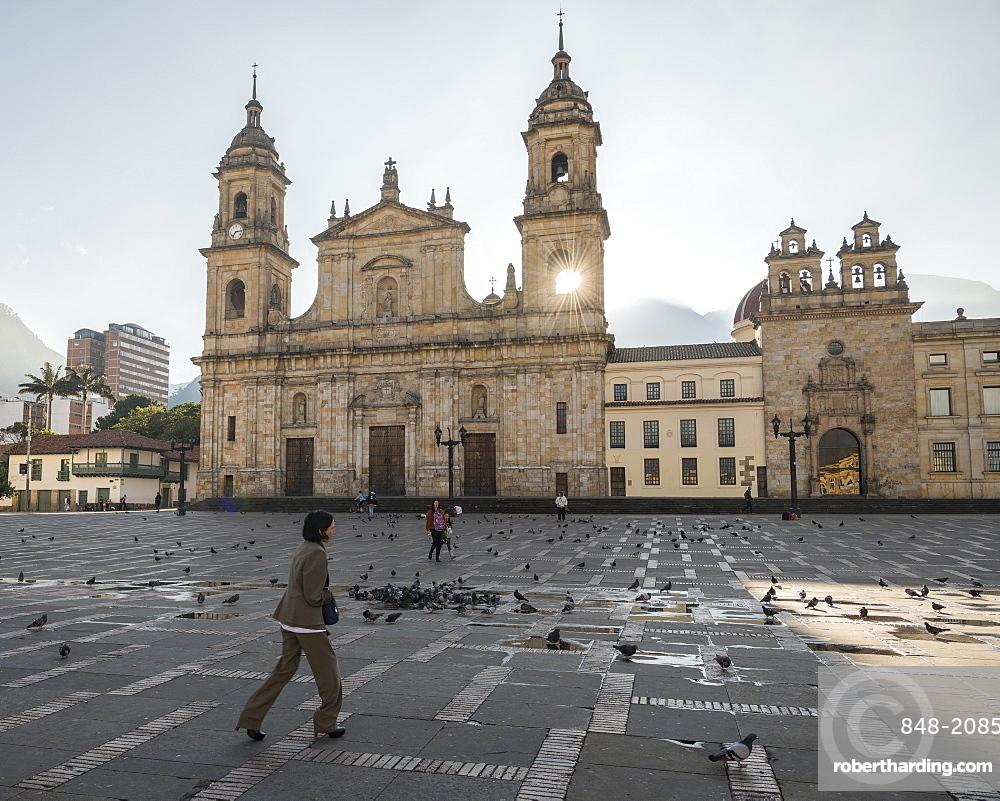 Exterior of National Cathedral, Bolivar Square, La Candelaria, Bogota, Cundinamarca, Colombia, South America