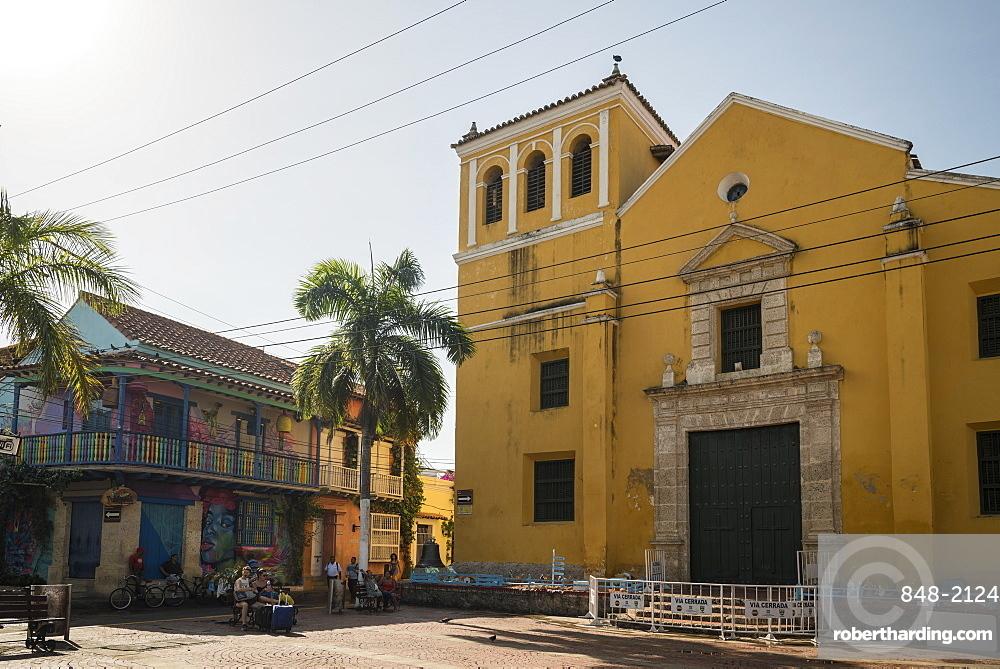 Holy Trinity Square, Getsemani Barrio, Cartagena, Bolivar Department, Colombia, South America