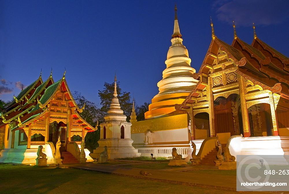 Wat Phra Singh Temple, Chiang Mai, Chiang Mai Province, Thailand, Southeast Asia, Asia