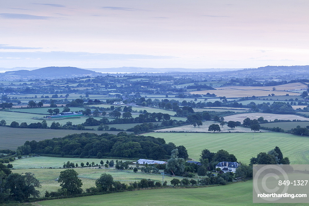 The view over the Blackmore Vale from Hambledon Hill in Dorset, England, United Kingdom, Europe