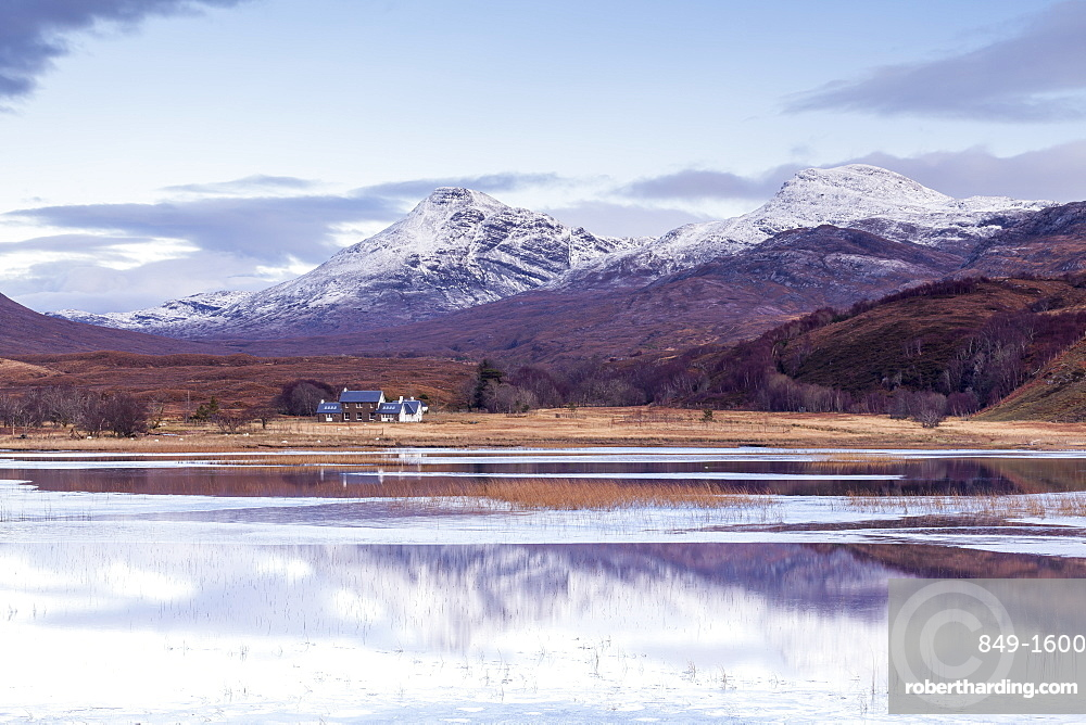 Loch Coultrie in Wester Ross, Highlands, Scotland, United Kingdom, Europe