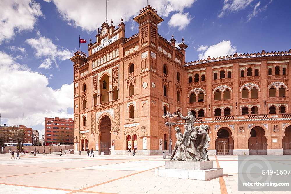 The Plaza de Toros de Las Ventas (Bull Ring), mainly used for bullfighting, built in 1929, Madrid, Spain, Europe