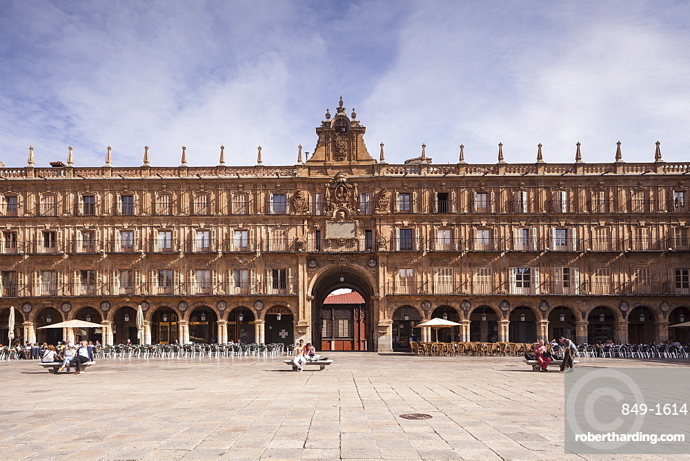 Plaza Mayor in Salamanca, UNESCO World Heritage Site, Castile and Leon, Spain, Europe