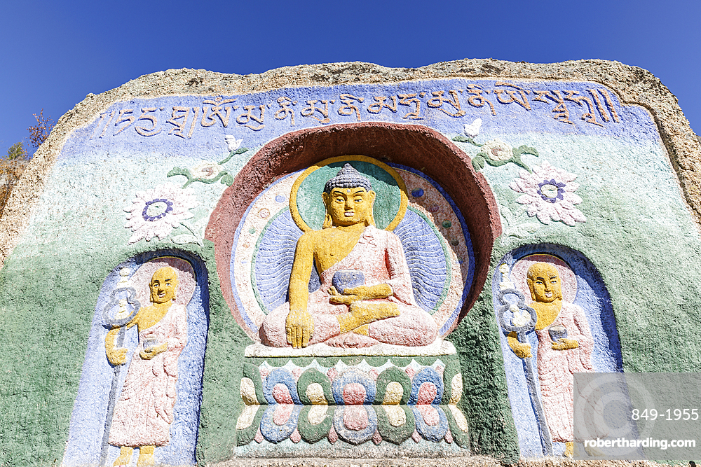 Buddhist carvings, Aryabal monastery in Gorkhi Terelj National Park, Mongolia, Central Asia, Asia
