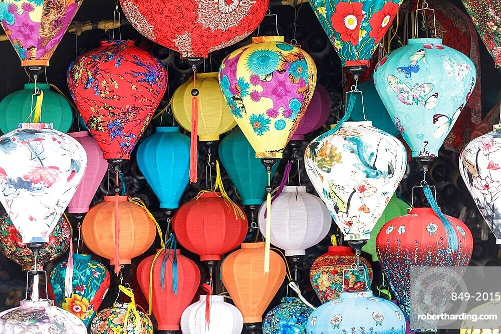 Colorful lanterns on sale in the old town of Hoi An, Vietnam, Indochina, Southeast Asia, Asia