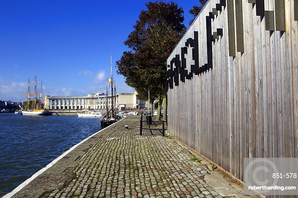 Harbourside and Arnolfini Arts Gallery on a sunny day, Bristol, England, United Kingdom, Europe