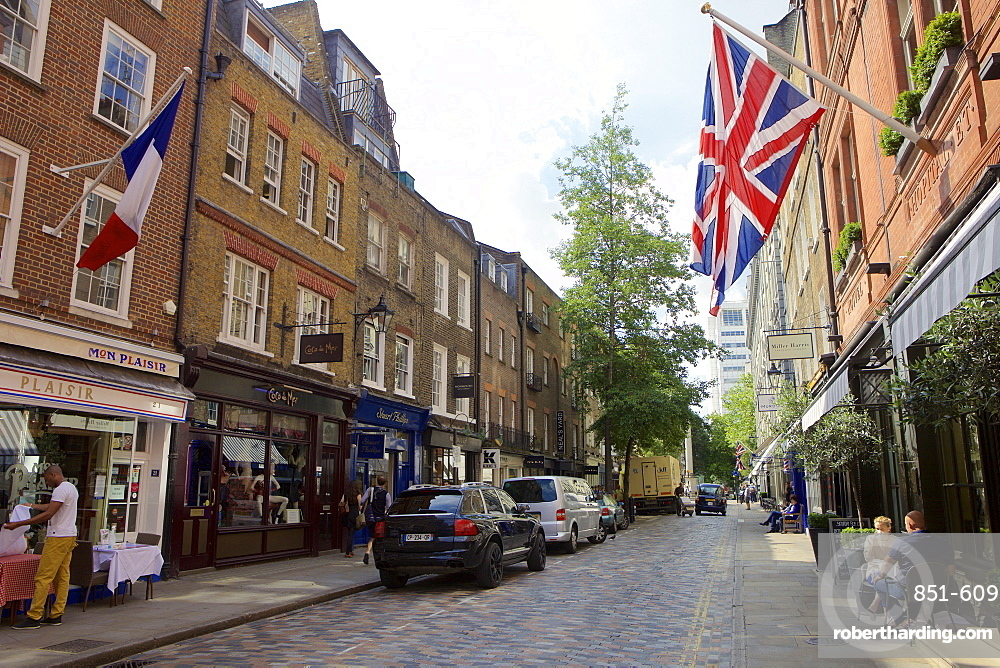Monmouth Street near Seven Dials in Covent Garden, London, England, United Kingdom, Europe