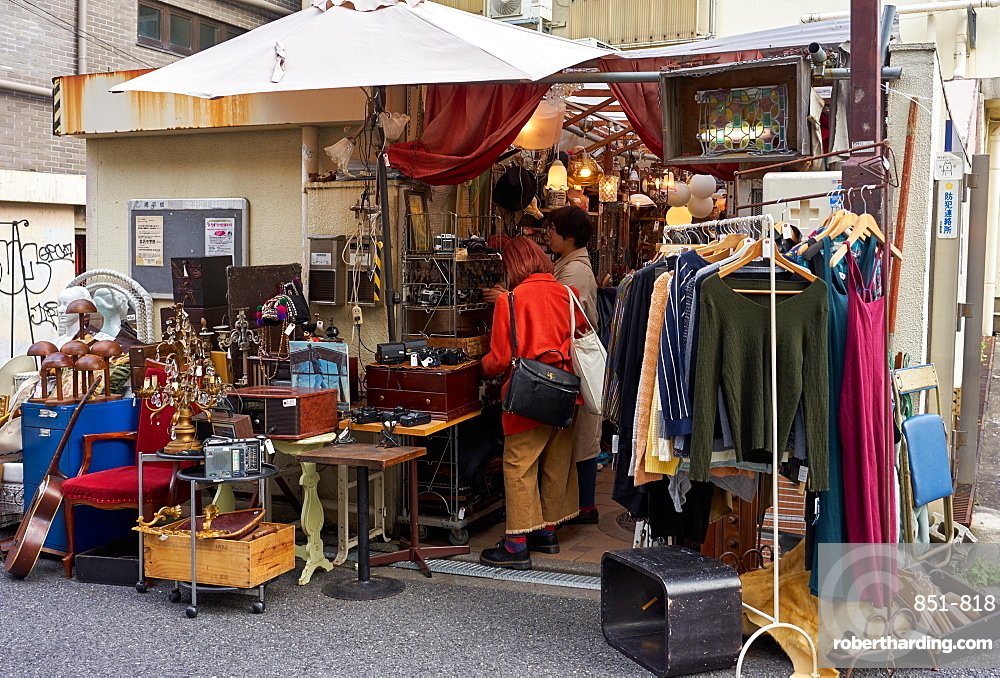 Second-hand shop in Shimokitazawa, Tokyo's   Stock Photo