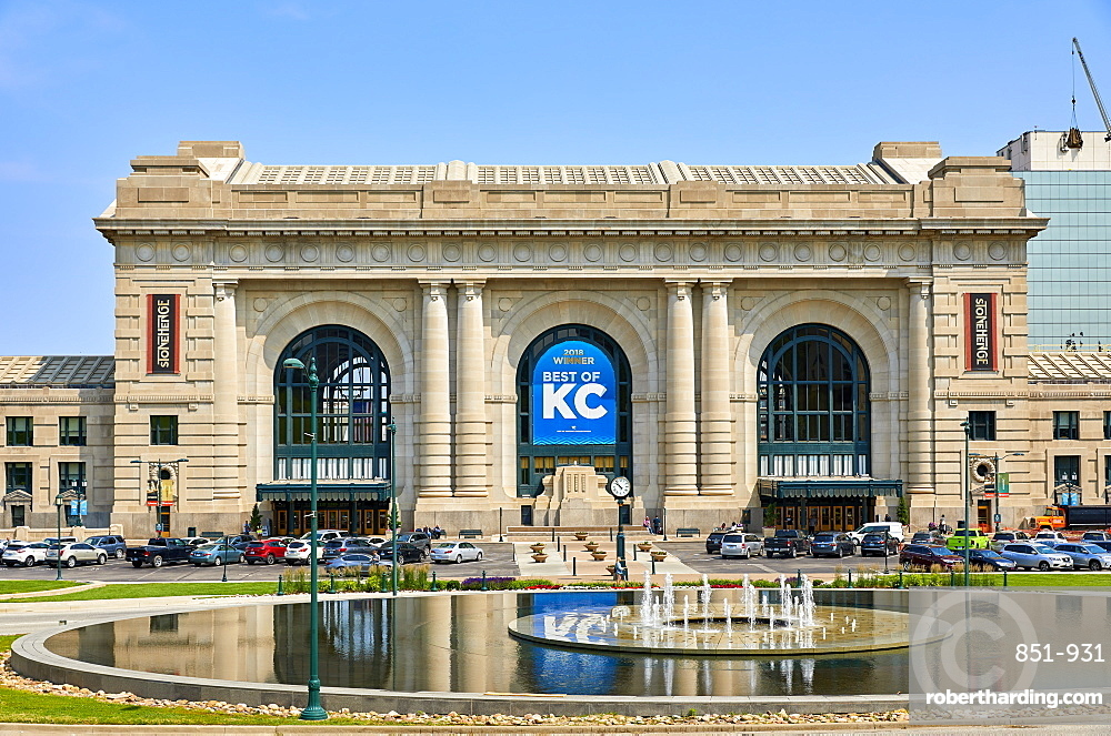 Exterior of Union Station in Kansas City, Missouri.