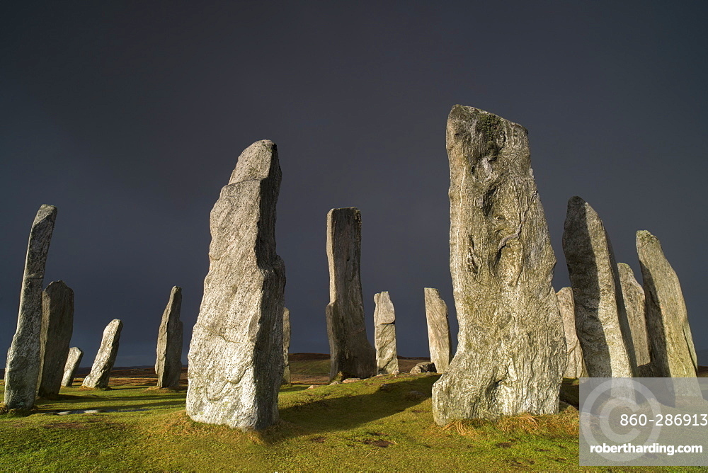 Monoliths prepared in gneiss Lewis, erected about 2000 years BC.