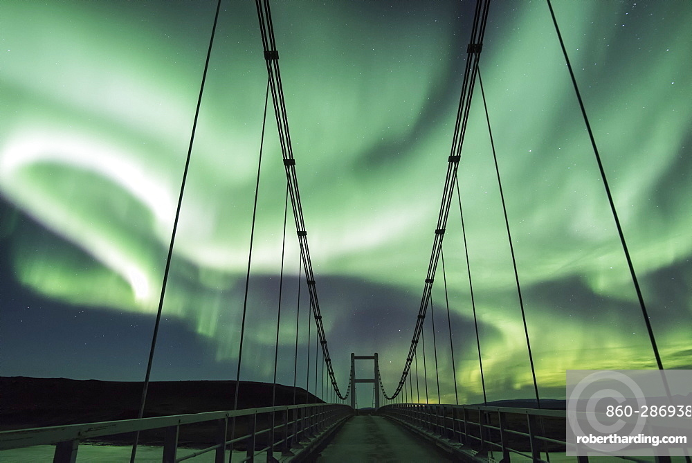 Northern Lights and Bridge J?kuls?, Iceland