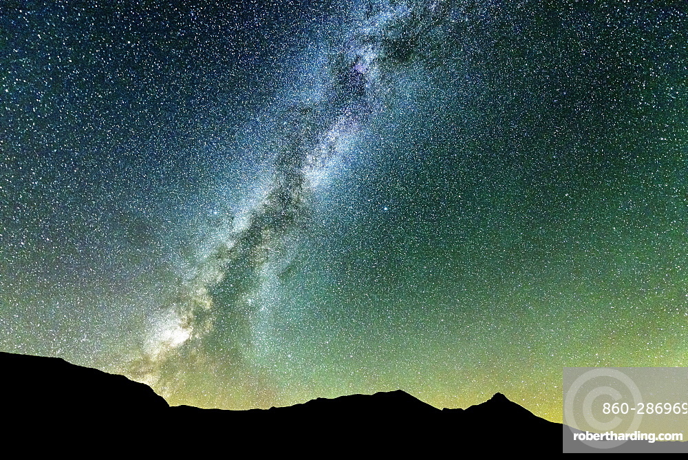 The Milky Way in the sky of the Alps Hautes-Alpes, France