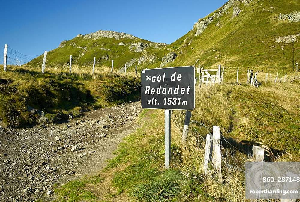 The Col du Redondet in summer, Monts du Cantal, Regional Natural Park of the Auvergne Volcanoes, France
