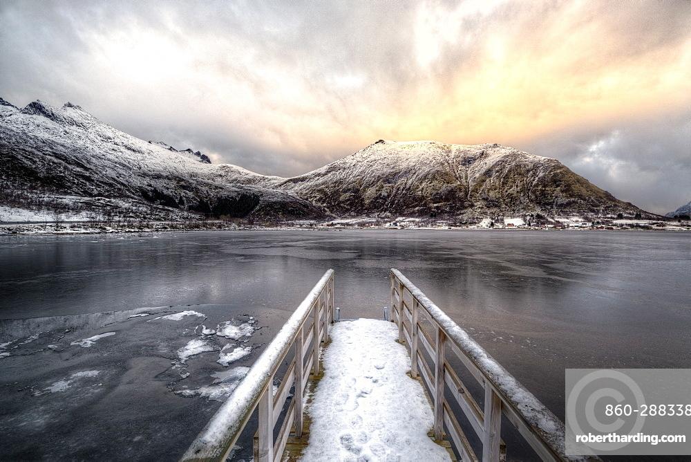Pontoon, Shore of Lofoten Islands, Nordland, Norway
