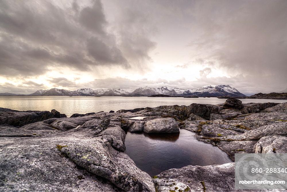 Shore of Lofoten Islands, Nordland, Norway
