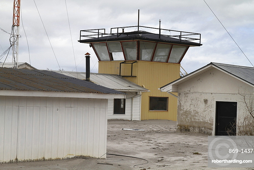 a lahar destroyed the airport and parts of the town of Chaiten in May 2008 houses were washed into the sea of mud floods from lava ashes South Chile Chile South America America Chile South America America