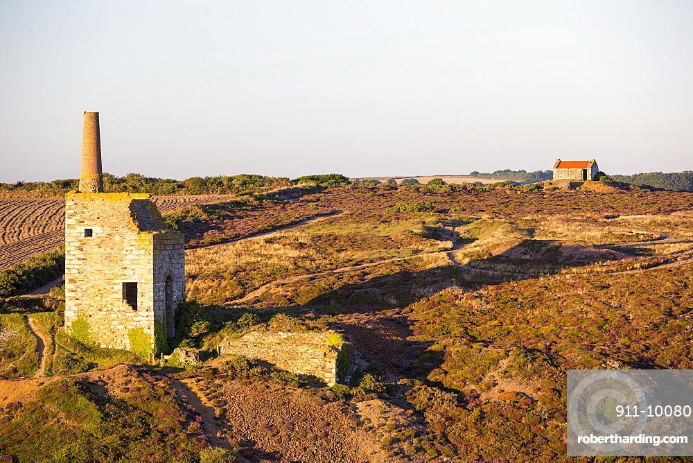 An abandoned tin mine in Porthtowan on the North Cornish coast, UK.