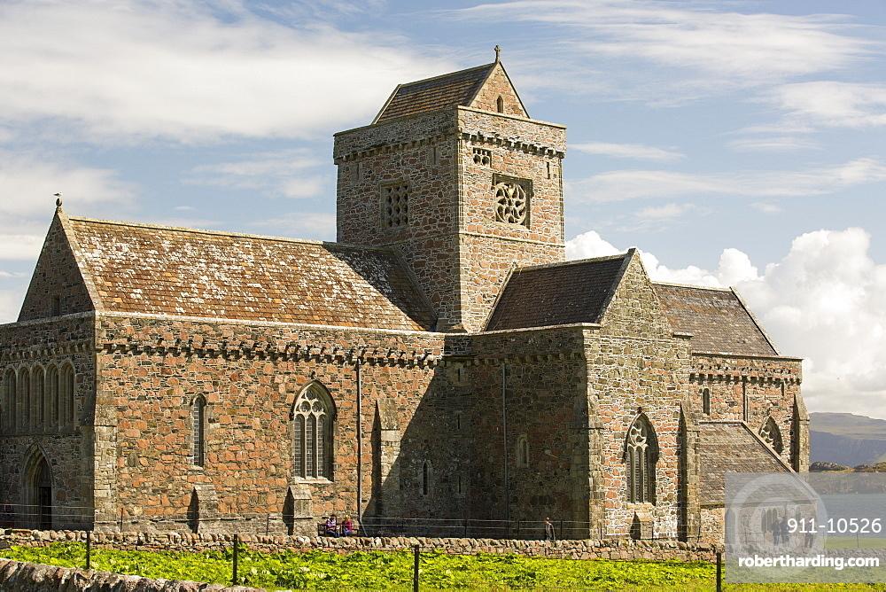Iona Abbey on iona, off Mull, Scotland, UK.