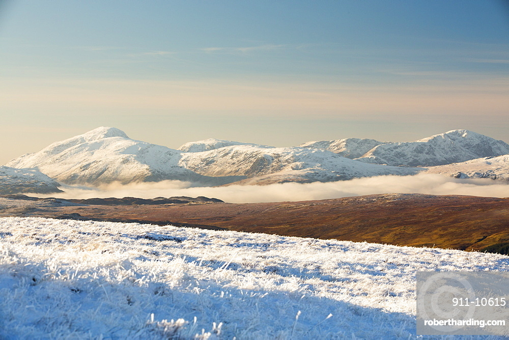 Looking across to Great Gable from the Helvellyn Range, Lake District, UK.