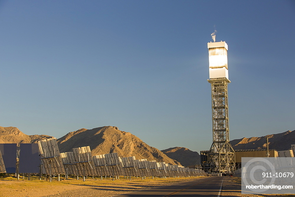The Ivanpah Solar Thermal Power Plant in California''s Mojave Desert is currently the largest solar thermal plant in the world. It generates 392 megawatts (MW) and deploys 173,500 heliostats that reflect the suns rays onto three solar towers. It covers 4,000 acres of desert.