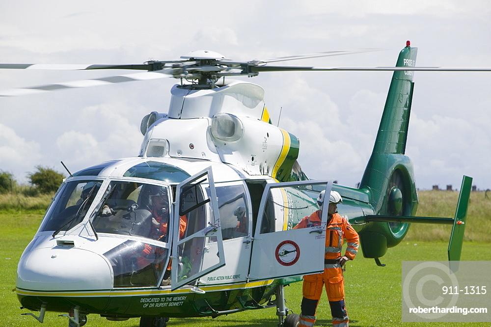 An air ambulance, Cumbria, England, United Kingdom, Europe