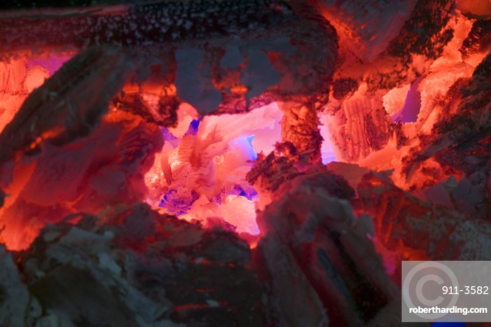 A wood fire