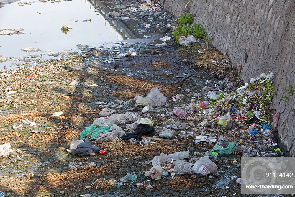 This badly polluted river is in the industrial city of Hangang, China, Asia
