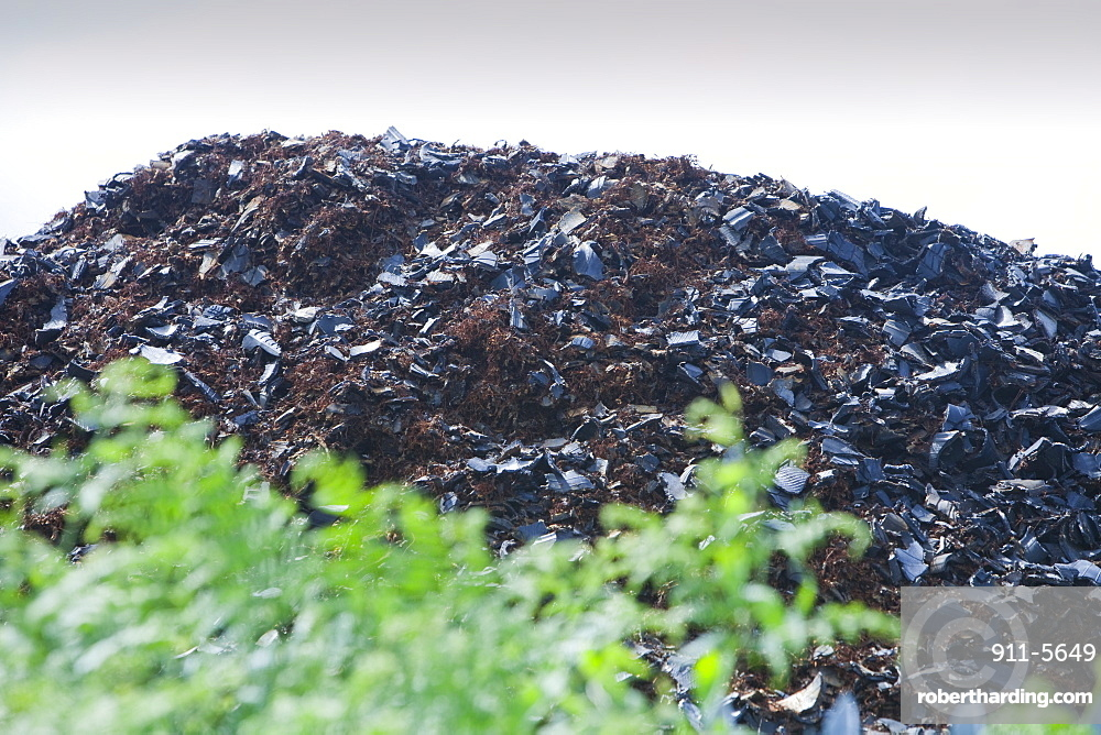 Used car tyres cut up for burning as fuel in power stations