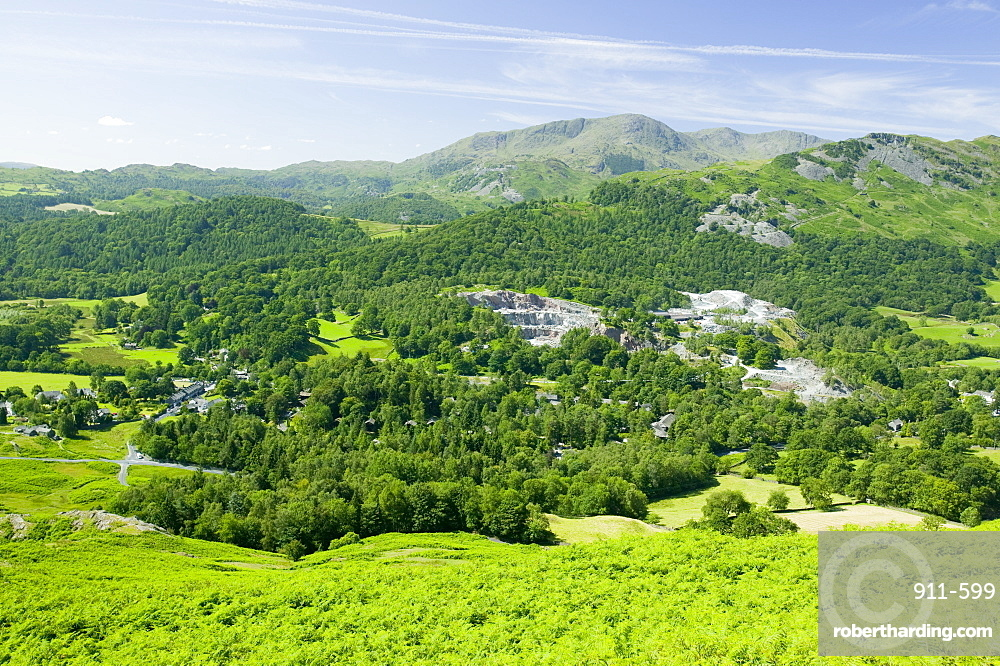 Slate quarries in Elterwater in the Langdale Valley, Lake District, Cumbria, England, United Kingdom, Europe
