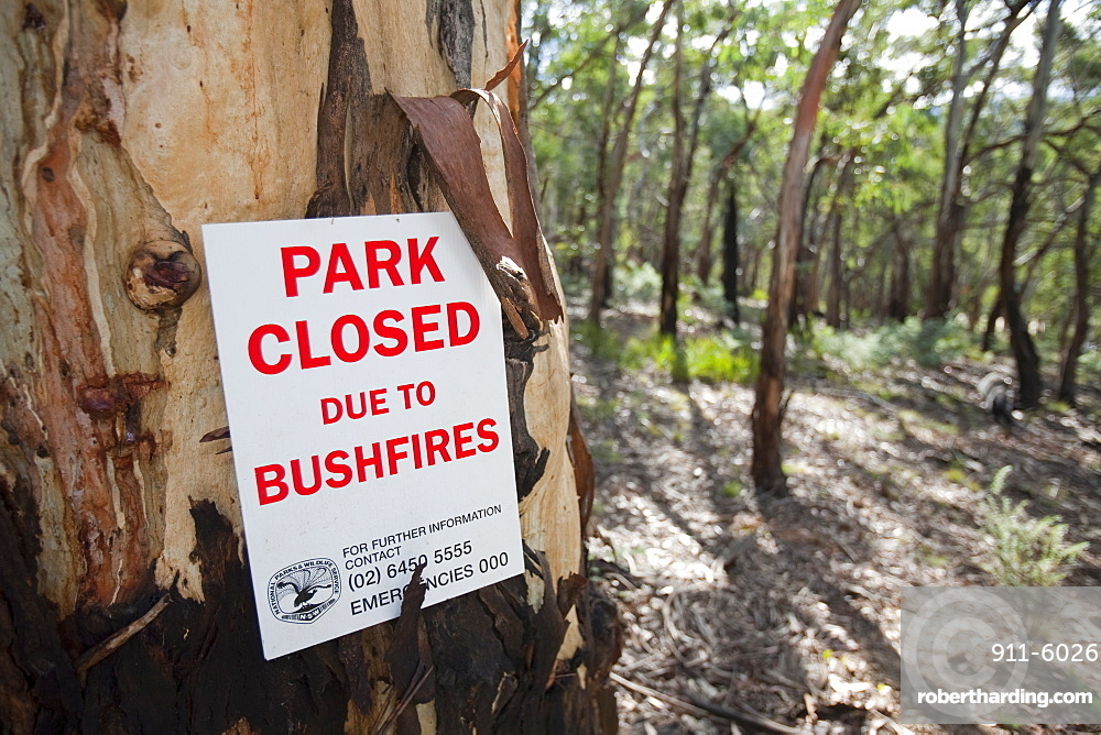 A park in the Snowy mountains closed due to bush fires, New South Wales, Australia, Pacific