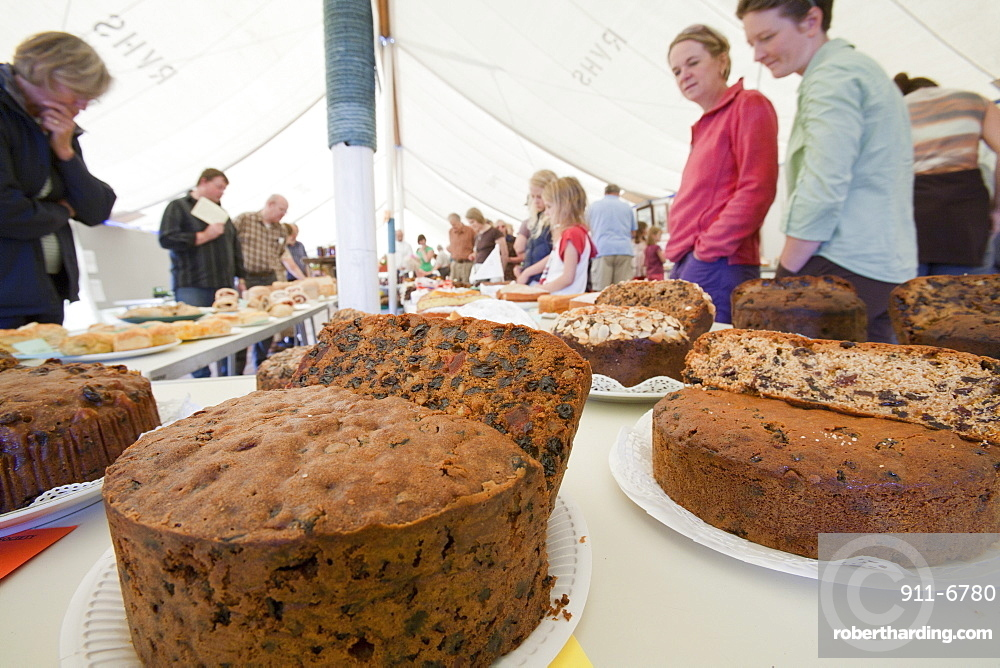 The produce tent at the Rusland Vale Horticultural society annual show, Rusland, South Cumbria, England, United Kingdom, Europe