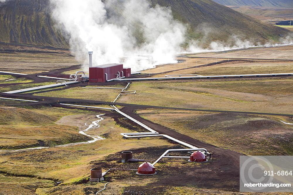 Krafla geothermal power station near Myvatn, Iceland, Polar Regions