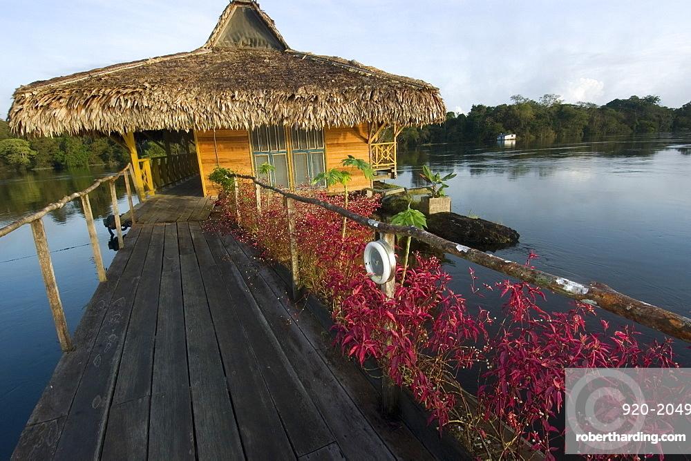 Uakari Floating Lodge, Mamiraua sustainable development reserve, Amazonas, Brazil, South America