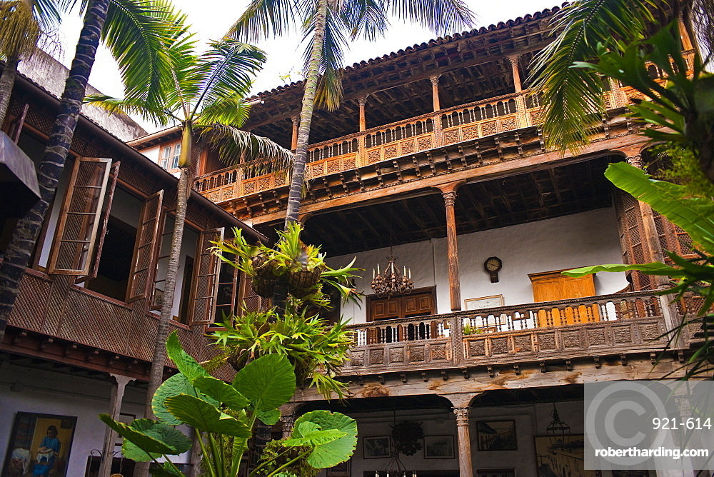 Casa de los Balcones. Santa Cruz, La Orotava (world heritage site), Tenerife Island. Canary Islands