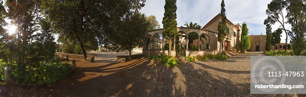 Santuari de Cura, monastry, Puig de Randa, mountain with monastries, near Llucmayor, Mallorca, Balearic Islands, Spain, Europe